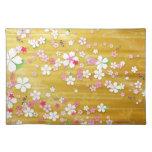 Kimono de Sakura del oro Mantel