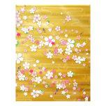 Kimono de Sakura del oro Membretes Personalizados