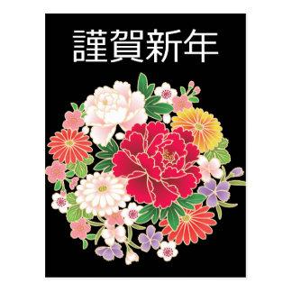 Kimono del japonés de Sakura de las glicinias del Postal
