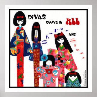 Kimono Divas-Positive Uplifting Art Words Print