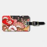 Kimono elegante - diseño del japonés etiquetas maleta
