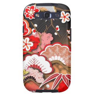 Kimono elegante - diseño del japonés galaxy SIII cárcasa