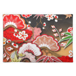 Kimono elegante - diseño del japonés mantel individual