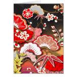 Kimono elegante - diseño del japonés tarjetón