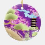 Kimono & Geisha Girl Ornament Christmas Tree Ornament