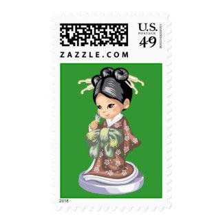 Kimono Girl Postage