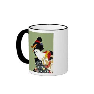 Kimono Girl with Cat Gift Mug