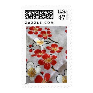 kimono hand painted sakura stamp