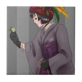 Kimono Hime 1 Ceramic Tile