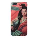 Kimono japonés del asiático del geisha 4 iPhone 5 cárcasas