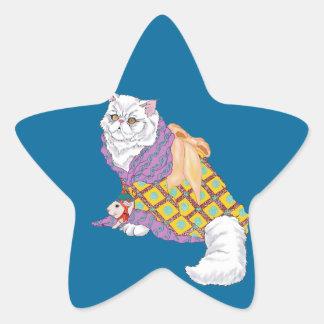Kimono Kitty and Emperor Chu-ii Star Sticker