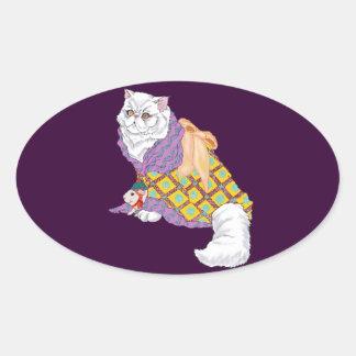 Kimono Kitty and Emperor Chu-ii Sticker