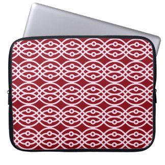 Kimono print, burgundy and pink laptop sleeves