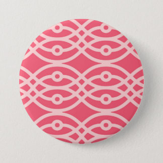 Kimono print, deep coral pink button