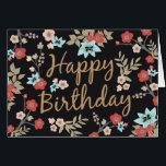 "Kimono Print Happy Birthday Card<br><div class=""desc"">Brightly colored kimono fabric inspired pattern design by Shelby Allison.</div>"