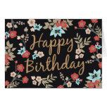Kimono Print Happy Birthday Greeting Cards