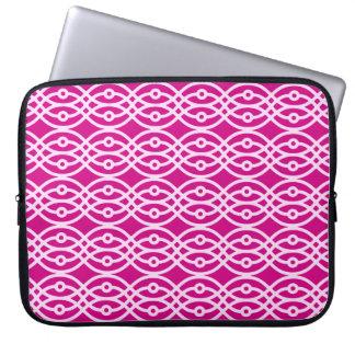Kimono print, magenta and pink computer sleeves