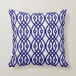 Kimono print, silver grey and navy blue pillows