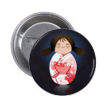 Kimono rojo y blanco de la muñeca japonesa - de Sa Pins
