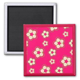 Kimono Rose Pink Lotus Magnet