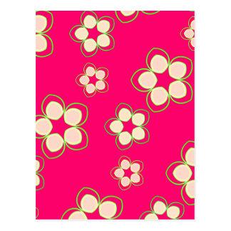 Kimono Rose Pink Lotus Postcard