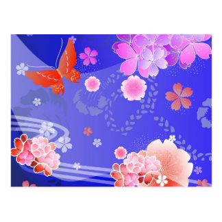 Kimono - Traditional Japanese Design Post Card