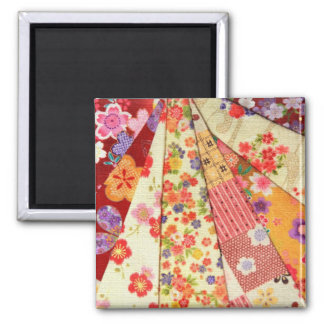 KIMONO VARIETY MIX 2 PRINT COLLECTION 2 INCH SQUARE MAGNET