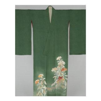 Kimono with Cockscomb Flowers Letterhead