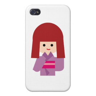 KimonoGirlNew10 iPhone 4 Cover