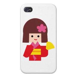 KimonoGirlNew11 Case For iPhone 4
