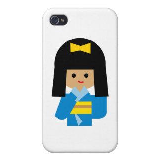 KimonoGirlNew13 Case For iPhone 4