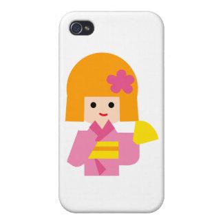 KimonoGirlNew1 iPhone 4 Case
