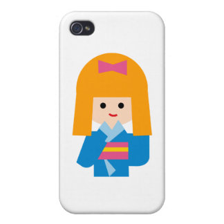 KimonoGirlNew3 iPhone 4/4S Cover