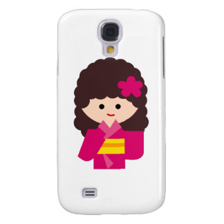 KimonoGirlNew6 Galaxy S4 Cases