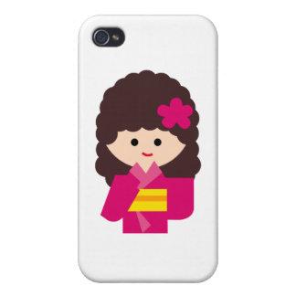 KimonoGirlNew6 iPhone 4/4S Cover
