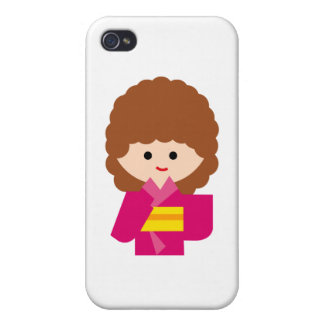 KimonoGirlNew7 iPhone 4 Cover