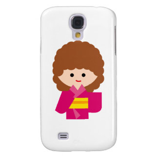 KimonoGirlNew7 Samsung Galaxy S4 Cover