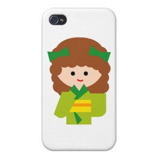 KimonoGirlNew8 iPhone 4/4S Case