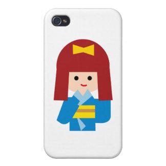 KimonoGirlNew9 iPhone 4/4S Cases
