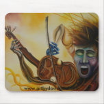 Kims Song Oil Painting Mouse Pad