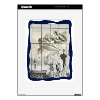 kin kong in aerport decal for the iPad