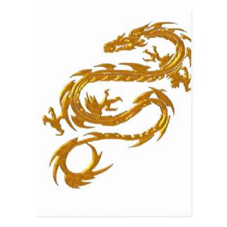 Kin ryu Japanese Dragon Postcard