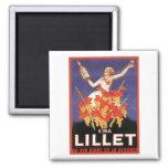 Kina Lillet Vintage Ad 2 Inch Square Magnet
