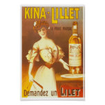 Kina Lillet vintage French aperitif ad wine Lady Poster