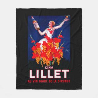 Kina Lillet Vintage PosterEurope Fleece Blanket