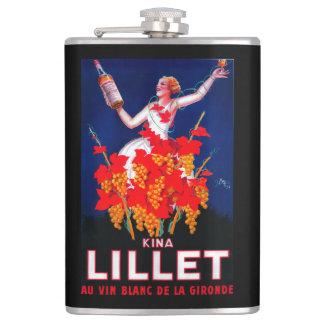 Kina Lillet Vintage PosterEurope Hip Flask