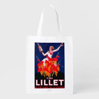 Kina Lillet Vintage PosterEurope Reusable Grocery Bag