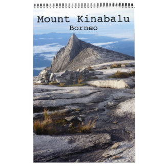 kinabalu Borneo del mt Calendario