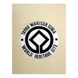 kinabalu world heritage postcard