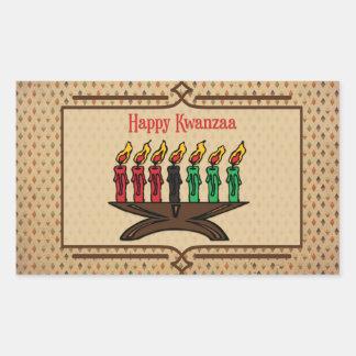 Kinara, Happy Kwanzaa Rectangular Sticker